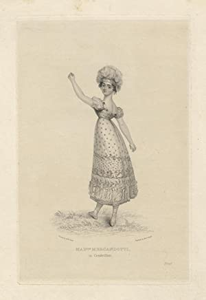 Madlle. [Maria] Mercandotti in Cendrillon. Engraving by Rob't. Cooper (fl. 1795-1836) after M.W. ...