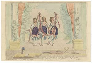 Operatical Reform; or la Dance a l'Eveque. Hand-colored satirical engraving by James Gillray (175...