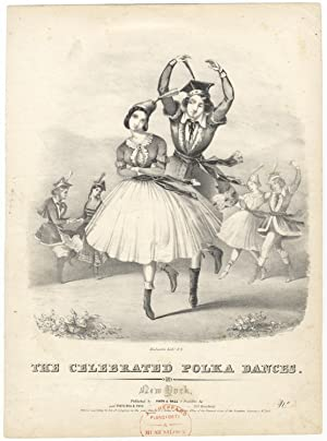 The Celebrated Polka Dances. No. [2]. Lithograph by Endicott of the dancers Grisi and Perrot