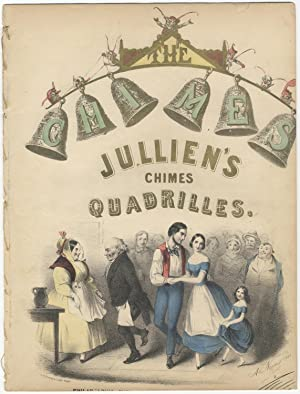 Jullien's Chimes Quadrilles, Handcoloured lithographic title by P.S. Duval after Albert Newsam (1...