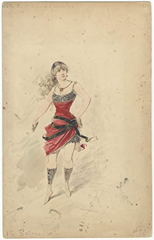 Original ballet costume design entitled