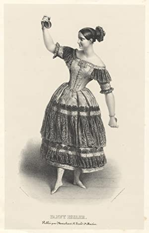 Full-length of Elssler by Alexandre Lacauchie in the role of Florinda in the ballet Le Diable Boi...