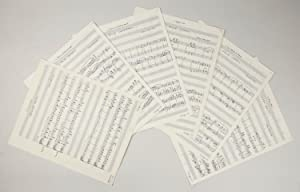 Six waltzes for two pianos in score. Autograph musical manuscripts signed and dated 1956-1957