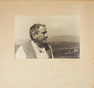 Original bust-length photograph of Stein by the distinguished American photographer Carl Van Vech...