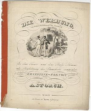 Die Werbung, von Ritter Stainhauser von Treuberg für eine Tenor und eine Bass-Stimme mit ...