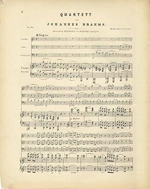Op. 25]. [Erstes Quartett (G moll) für Pianoforte, Violine, Bratsche und Violoncell]. [Score ...