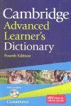 CAMBRIDGE ADVANCED LEARNER S DICTIONARY WITH CD-ROM PAPERBACK
