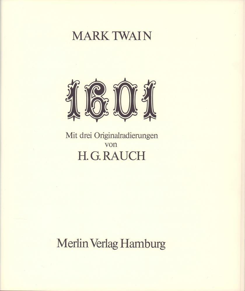 1601, or Conversation at the social fireside: Twain, Mark, pseud.