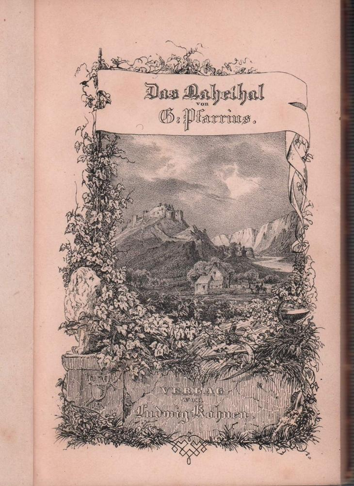 Das Nahethal in Liedern.: Pfarrius, Gustav.