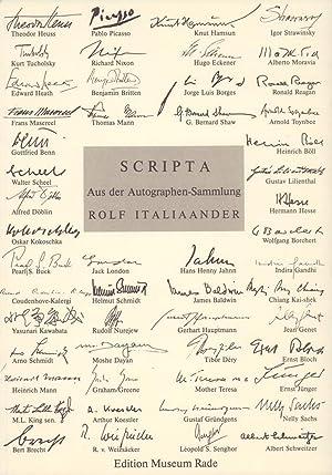 Scripta. Aus der Autographen-Sammlung Rolf Italiaander. Auswahl: Döblin, Alfred (1878-1957)