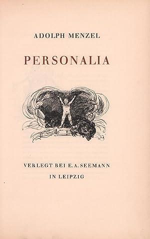 Personalia. (Handschrift im Archiv der Akademie der: Menzel, Adolph [von].
