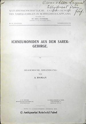 Ichneumoniden aus dem Sarek-Gebirge. Inaugural-Dissertation zur Erlangung der Doktorwürde mit ...