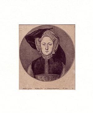 PORTRAIT Katharina von Aragon. Brustbild en face.