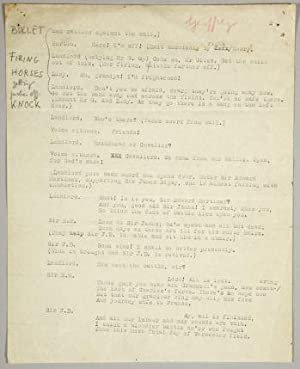KING CHARLES II. Typescript of an Unpublished School Play.: Orwell, George [pseudonym of Eric ...