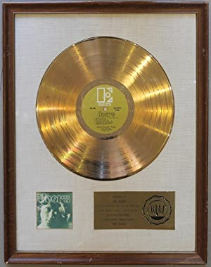 "THE DOORS"". An Authentic, First Presentation, First-State RIAA White Matte � Gold Record Award..."