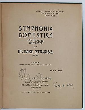 SYMPHONIA DOMESTICA Opus 53.: Strauss, Richard (1864 - 1949)