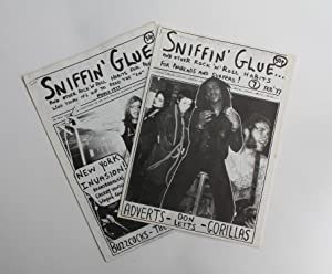 SNIFFIN GLUE. Volumes 1 through to 12. Together with issue 5.5 (Sniffin Snow).: Punk Fanzine] Perry...