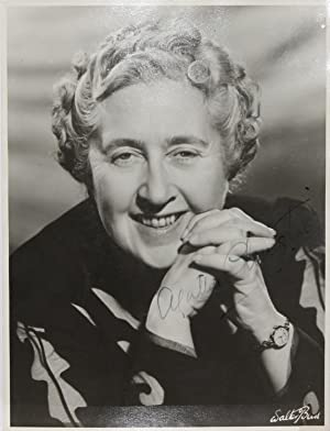 ORIGINAL PORTRAIT PHOTOGRAPH. SIGNED BY AGATHA CHRISTIE: Christie, Agatha (15th September 1890 - ...