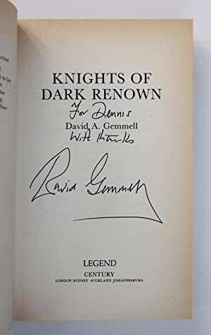 KNIGHTS OF THE DARK RENOWN A New Spell Binding Fantasy.: Gemmell, David