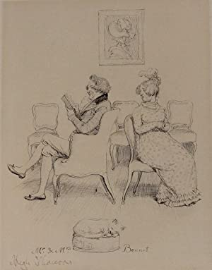 MR. AND MRS. BENNET. Original drawing from: THOMSON, Hugh; AUSTEN,