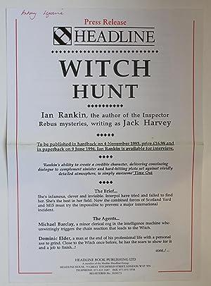 WITCH HUNT: Rankin, Ian writing as Jack Harvey