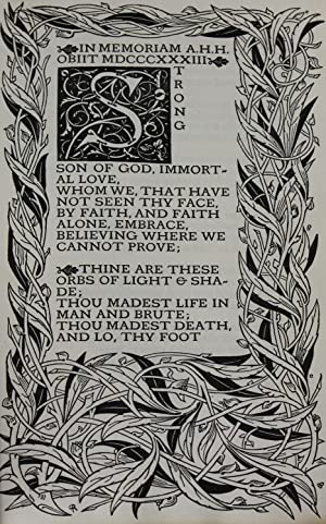 IN MEMORIAM: Tennyson, Alfred Lord