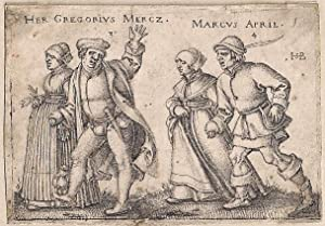 März und April. March and April.: Beham, Hans Sebald (Nürnberg 1500-Frankfurt a.M. 1550).