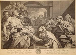 Suicide of Seneca. After a painting by Luca Giordano (Naples 1634-Naples-1705). Intermediary ...
