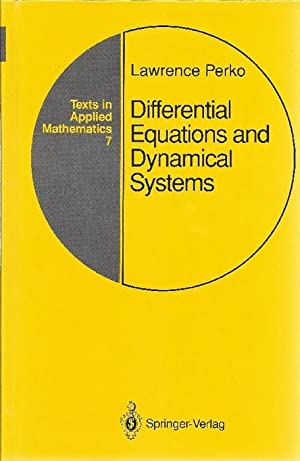 Differential equations and dynamical systems: Perko, Lawrence