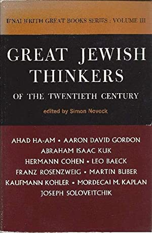 Great Jewish thinkers of the twentieth century. Edietd with introductory notes.