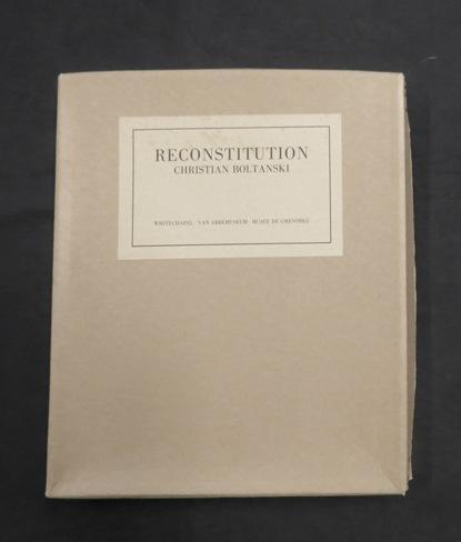 Reconstitution: Christian Boltanski. FINE COMPLETE COPY.