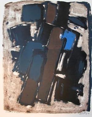 'Accent op Blauw'.: Motz, (Wilhelm Johann) Wim (1900 - Rotterdam -1977).