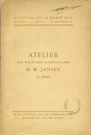 Atelier van Wijlen den Kunstschilder H.W. Jansen te Zeist.: Jansen, Hendrik Willebrord - Biesing, ...
