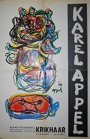 Vijftien keer Karel Appel tentoongesteld bij Krikhaar - Amsterdam. Schilderijen, Gouaches, ...