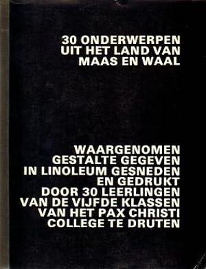 30 Onderwerpen uit het Land van Maas en Waal. Waargenomen Gestalte gegeven in linoleum gesneden en ...