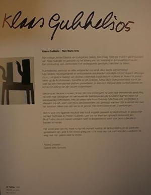 Klaas Gubbels: Met niets iets. AS NEW/SIGNED TWICE.: Gubbels, Klaas - Fuchs, Rudi.