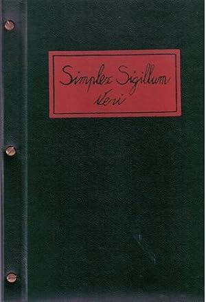 Simplex Sigillum Veri: Pieter Becks. SIGNED/MINT COPY.: Becks, Pieter -