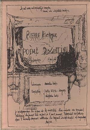 Poème discontinu. Gebroken gedicht. FINE COPY.: Beks, Maarten - Borgue, Pierre.