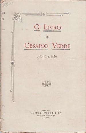 O livro de Cesário Verde. 1873-1886. Reimpressão: VERDE, Cesário, 1855-1886