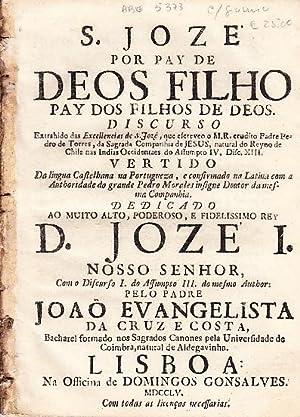 S. Jozé por pay de Deos filho: TORRES, Pedro de,