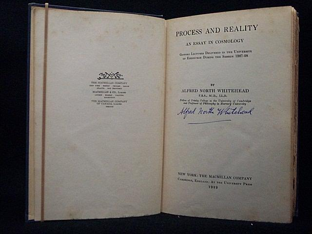 PROCESS AND REALITY: AN ESSAY IN COSMOLOGY: WHITEHEAD, ALFRED NORTH