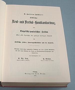 Biblische Real- und Verbal-Handkonkordanz oder Exegetisch-homiletisches Lexikon über alle Spr&...
