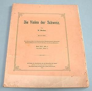 Die Violen der Schweiz.: Becker, W.: