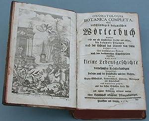 Onomatologia Botanica Completa oder vollständiges botanisches Wörterbuch Vol. 1 - 6 (von ...