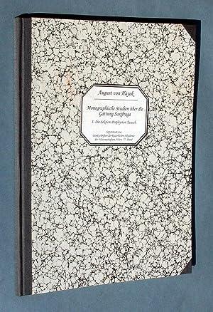 Monographische Studien über die Gattung Saxifraga. I.: Hayek, August von: