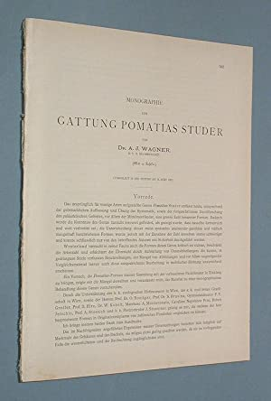 Monographie über die Gattung Pomatias Studer.: Wagner, A. J.: