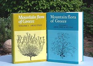 Mountain Flora of Greece. Volume 1 and Volume 2.: Strid, Arne: