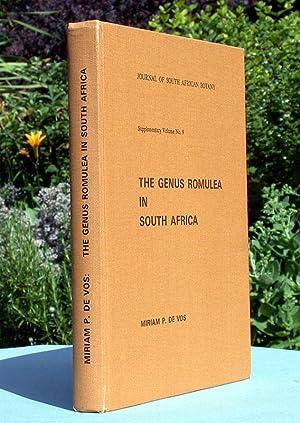 The Genus Romulea in South Africa.: De Vos, Miriam: