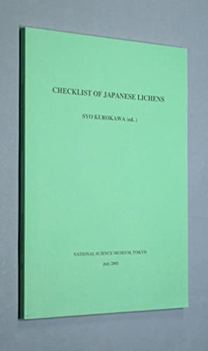 Checklist of Japanese Lichens.: Kurokawa, Syo: