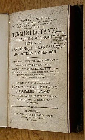 Caroli Linnaei Termini Botanici.: Linnaeus, Carolus (Carl